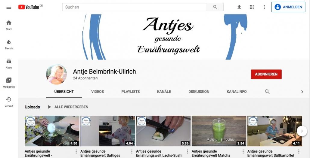 Antjes Youtube-Kanal